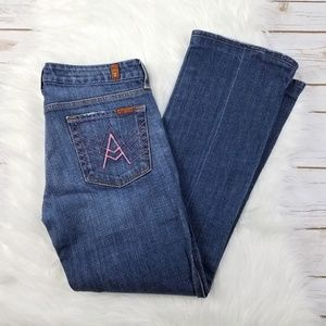 7 FOR ALL MANKIND 7FAMK A Pocket Jeans Pink Stitch